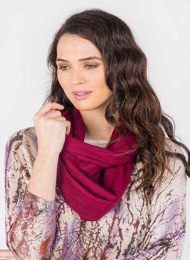 Silk and Cashmere Şal Bordo